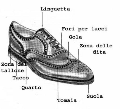 componenti di una scarpa